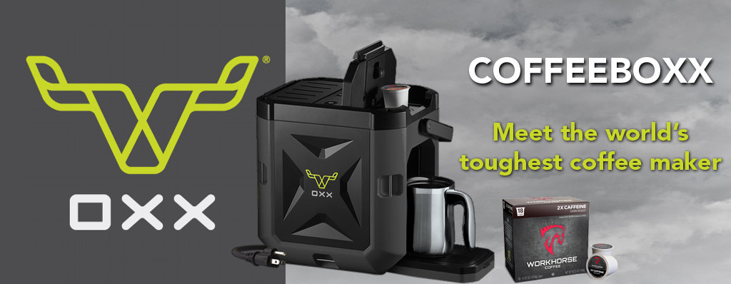 COFFEEBOXX Jobsite Coffee Maker in Special Ops Black