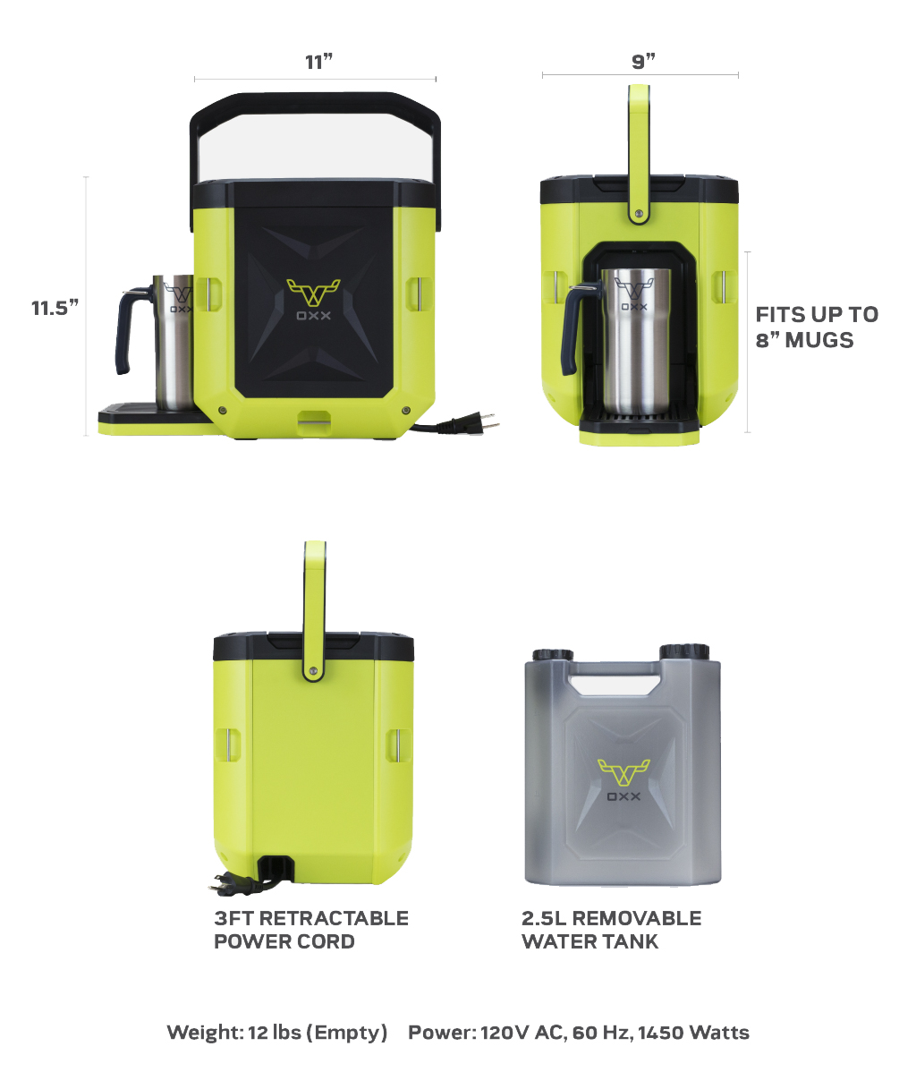 COFFEEBOXX Jobsite Coffee Maker in Hi Viz Green